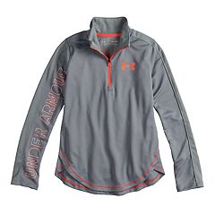 Girls 7-16 Under Armour Tech Quarter-Zip Pullover Top