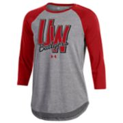 Women's Under Armour Wisconsin Badgers Favorites Baseball Tee