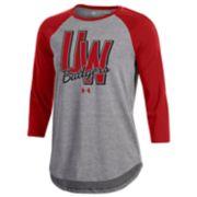 Women's Under Armour Wisconsin Badgers Favorites Baseball Tee