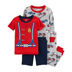 Baby Boy Carter's Fireman, Police Car & Ambulance Tops & Bottoms Pajama Set