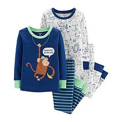 Baby Boy Carter's Monkey & Animals Tops & Bottoms Pajama Set