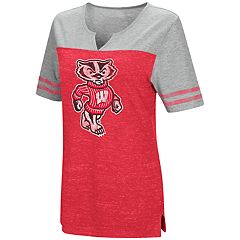 Women's Campus Heritage Wisconsin Badgers On The Break Tee
