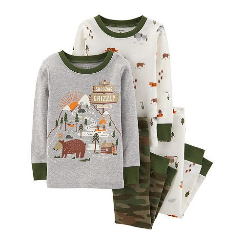 Baby Boy Carter's Woodland Creatures Tops & Bottoms Pajama Set