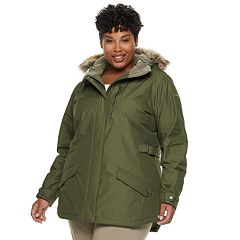 Plus Size Columbia Penns Creek Thermal Coil® Hooded Faux-Fur Trim Jacket