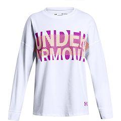Girls 7-16 Under Armour Overlay Branded Long Sleeve T-Shirt