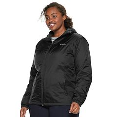 Plus Size Columbia Rain to Fame Hooded Sherpa-Lined Jacket