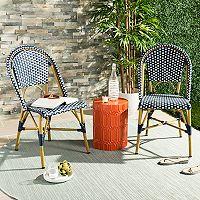 Safavieh Indoor / Outdoor Stacking Bistro Chair 2 pc Set