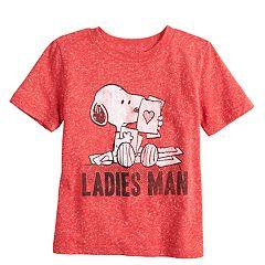 Toddler Boy Jumping Beans® Snoopy 'Ladies Man'  Tee