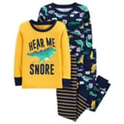 "Toddler Boy Carter's ""Hear Me Snore"" Donisaur Tops & Bottoms Pajama Set"