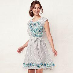 Women's LC Lauren Conrad Floral Pleated Dress