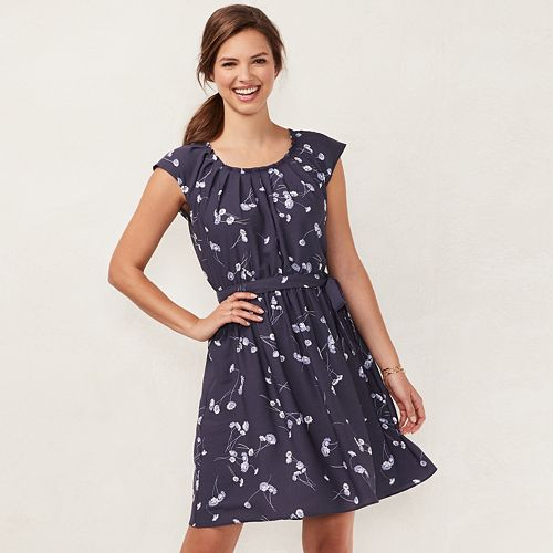 Womens Lc Lauren Conrad Floral Pleated Dress