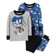 Toddler Boy Carter's Football Tops & Bottoms Pajama Set