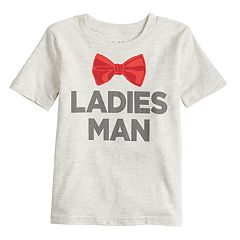 Toddler Boy Jumping Beans®  'Ladies Man' Bowtie Tee