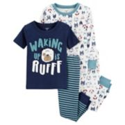 "Toddler Boy Carter's ""Waking Up Is Ruff"" Puppy Dog Tops & Bottoms Pajama Set"