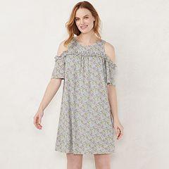 d4a0e307dc Women's LC Lauren Conrad Ruffle Cold-Shoulder Dress