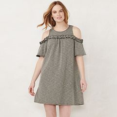 23485df3544d Women's LC Lauren Conrad Ruffle Cold-Shoulder Dress