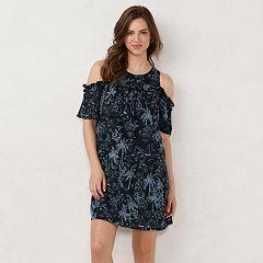 91a5f1adaf Women's LC Lauren Conrad Ruffle Cold-Shoulder Dress