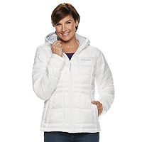 Columbia Pacific Post II Hooded Womens Jacket (White/Geyser/Black)