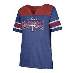 Women's '47 Brand Texas Rangers Match Tri-Blend Tee