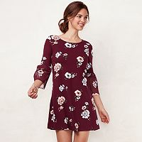 Women's LC Lauren Conrad Bell Sleeve Swing Dress