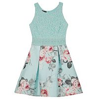 Girls 7-16 IZ Amy Byer Sleeveless Lace Bodice Pleated Skater Dress