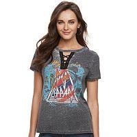 Women's Rock & Republic® Lace-Up Def Leppard Tee
