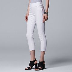 Petite Simply Vera Vera Wang Pull-On Capri Jeggings