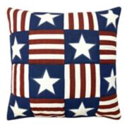 Americana Patchwork Throw Pillow