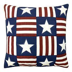 Americana Patchwork Throw Pillow