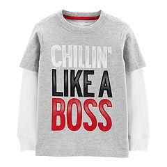 Toddler Boy Carter's 'Chillin' Like A Boss' Mock Layer Tee