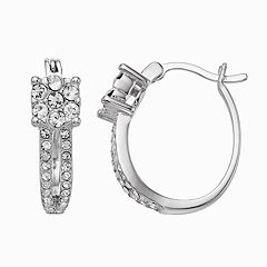 Chrystina Crystal Cluster Hoop Earrings