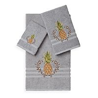 Linum Home Textiles Welcome 3-piece Embellished Bath Towel Set