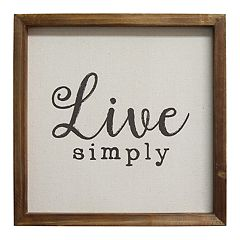 Stratton Home Decor 'Live Simply' Wall Decor