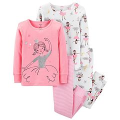 Toddler Girl Carter's Ballerina Tops & Bottoms Pajama Set