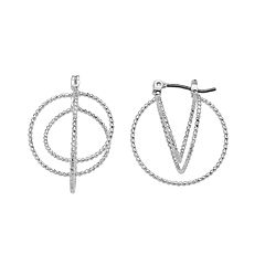Napier Textured Geometric Nickel Free Drop Earrings