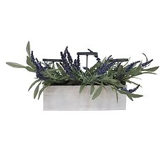 SONOMA Goods for Life™ Artificial Lavender Farmhouse 3-Light Candle Holder
