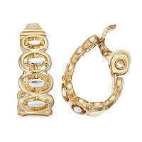 Napier Two Tone Graduated Oval Clip-On Earrings