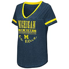Women's Campus Heritage Michigan Wolverines Gunther Jersey Tee