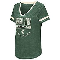 Women's Campus Heritage Michigan State Spartans Gunther Jersey Tee