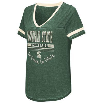 Women's Campus Heritage Michigan State Spartans Gunther Jersey Tee