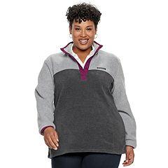 Plus Size Columbia Three Lakes Fleece Pullover Jacket