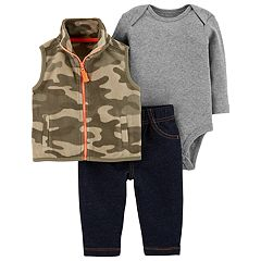 Baby Boy Carter's 3-Piece Camo Bodysuit Set