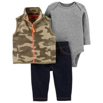 Baby Boy Carter's 3-Piece Camo Bodysuit Set