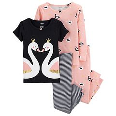 Toddler Girl Carter's Swan Tops & Bottoms Pajama Set