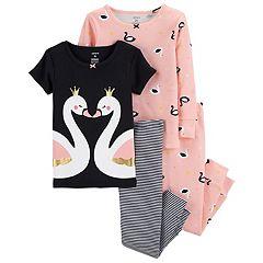 Toddler Girl Carter's Swan Tops & Bottoms Pajama Set