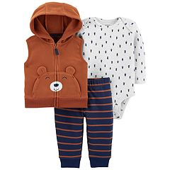Baby Boy Carter's 3-Piece Little Bear Bodysuit Set