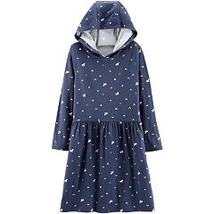 Girls 4-12 Carter's Hooded Unicorn Dress