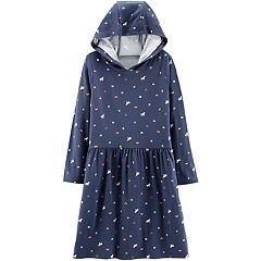 Girls 4-12 Carter's Hooded Unicorn Dress