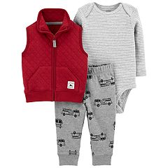 Baby Boy Carter's 3-Piece Firetruck Bodysuit Set