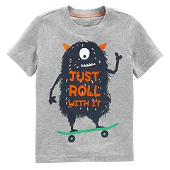 Toddler Boy Carter's Monster 'Just Roll With It' Graphic Tee